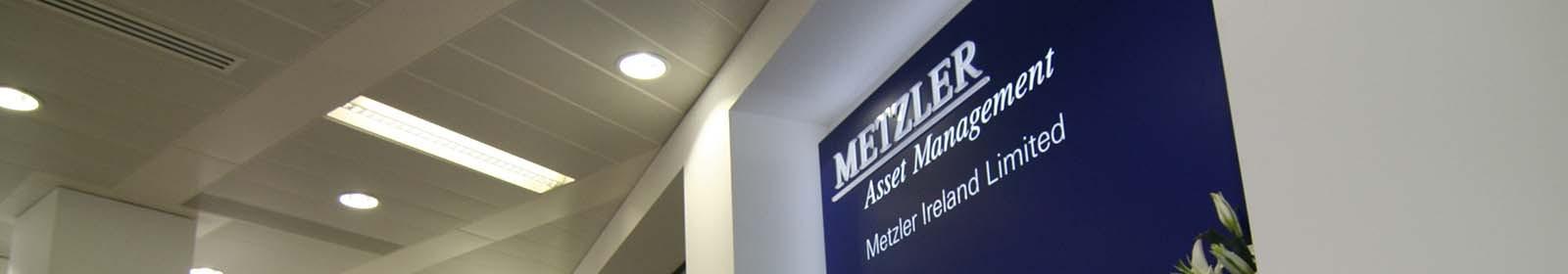 Metzler Asset management Signage